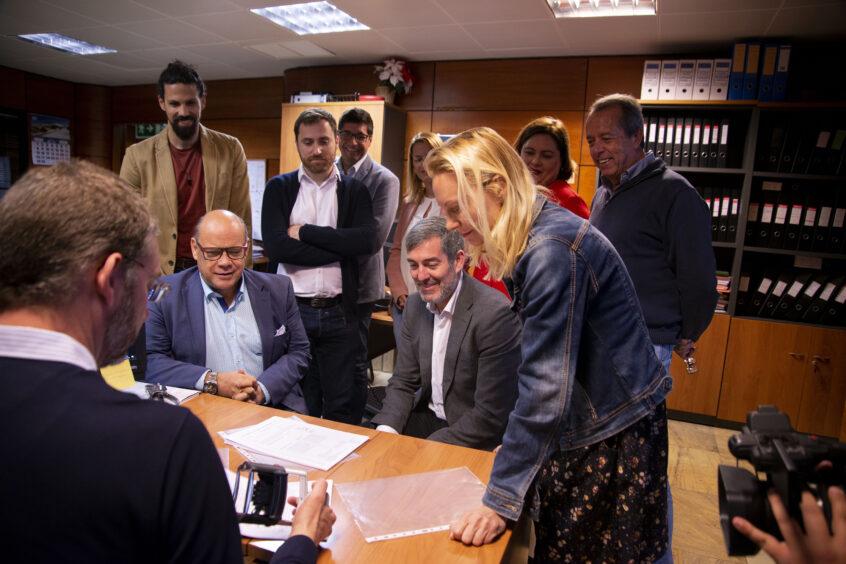 """Clavijo, las reticencias para presentarse a la lista autonómica de las formaciones políticas que encabezaron la reforma electoral en Canarias, """"suponen un fraude"""" a los canarios"""