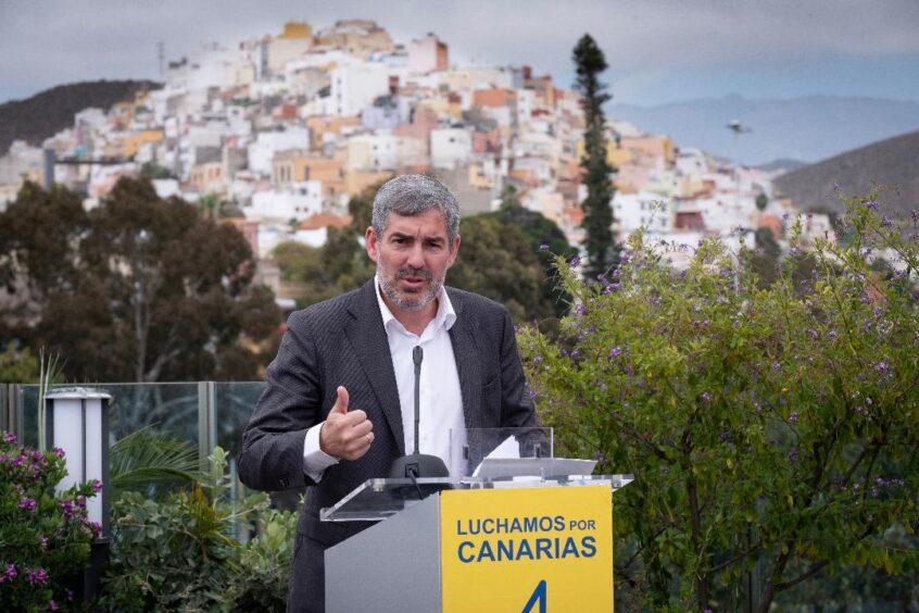 Fernando Clavijo en la presentación del programa