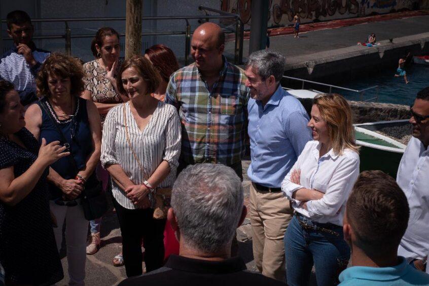 Fernando Clavijo visita varios municipios del sur de Tenerife